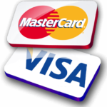 We accept payment using visa or mastercard
